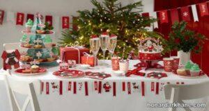 انواع مدل های متنوع دیزاین میز کریسمس