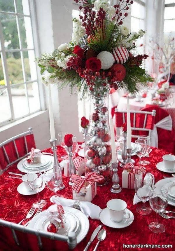 سبک های شیک و خلاقانه دیزاین میز کریسمس