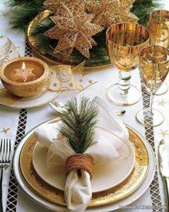ایده های جذاب تزیین میز کریسمس