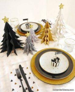 سبک های جذاب دیزاین میز کریسمس