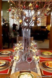 تزیینات جالب و جدید میز کریسمس