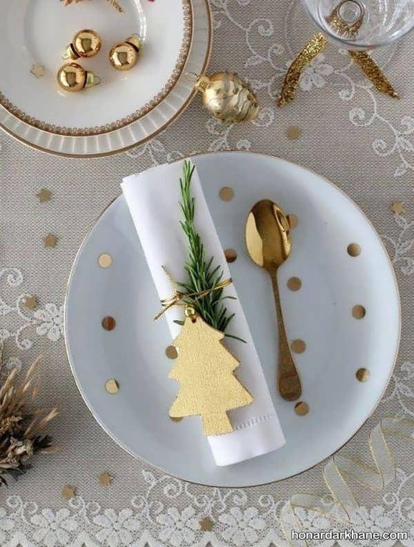 چیدمان جذاب و خاص میز کریسمس