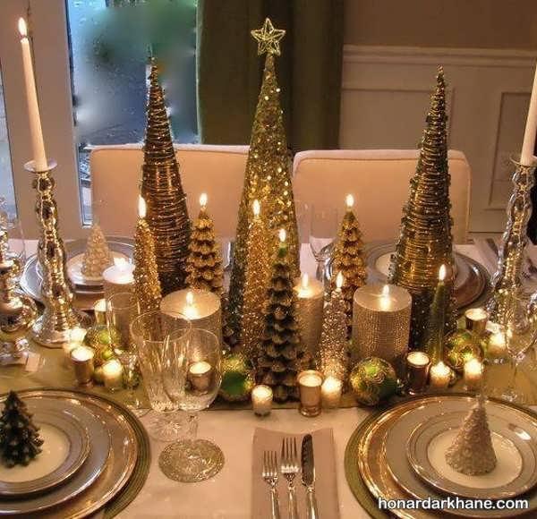 دیزاین جدید و جذاب میز کریسمس