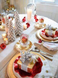 انواع تزیینات جذاب میز کریسمس