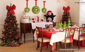 ایده های جدید تزیین میز کریسمس