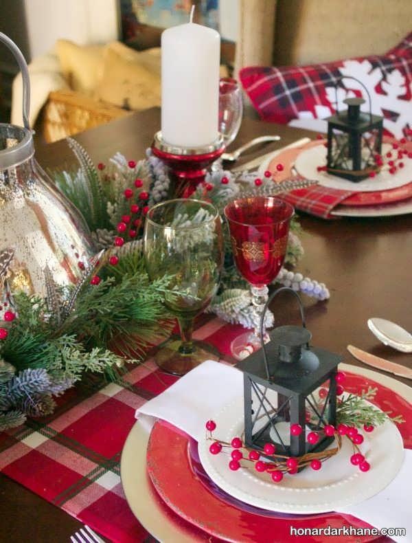مدل های شیک و خلاقانه تزیینات میز کریسمس