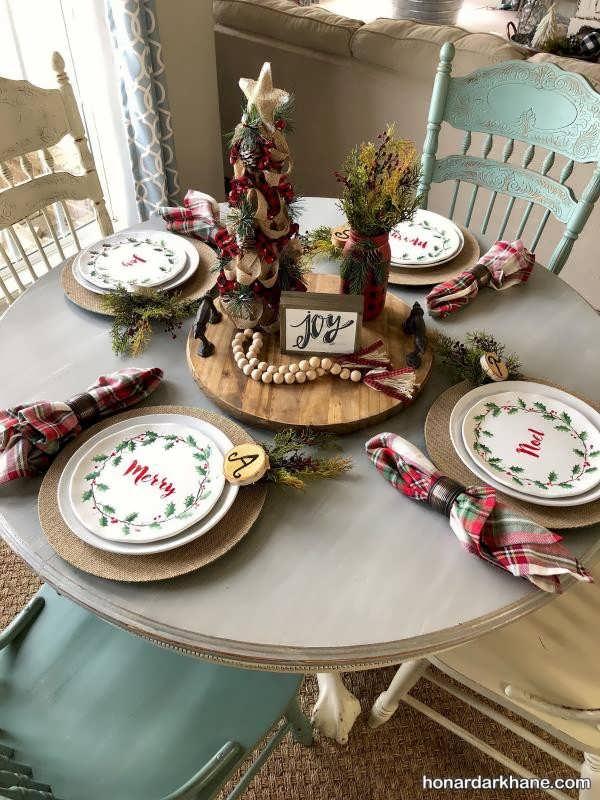 انواع تزیینات خاص و متفاوت میز کریسمس