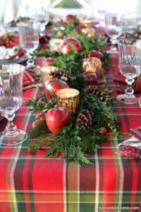 انواع دیزاین جالب و خلاقانه میز کریسمس