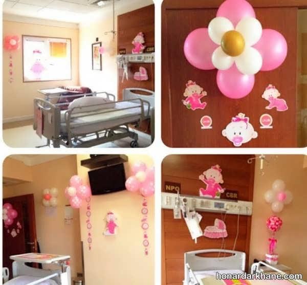 انواع تزیینات شیک و جدید اتاق بیمارستان