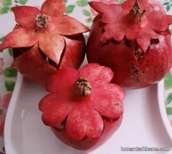 مدل های جالب و جذاب دیزاین میوه انار