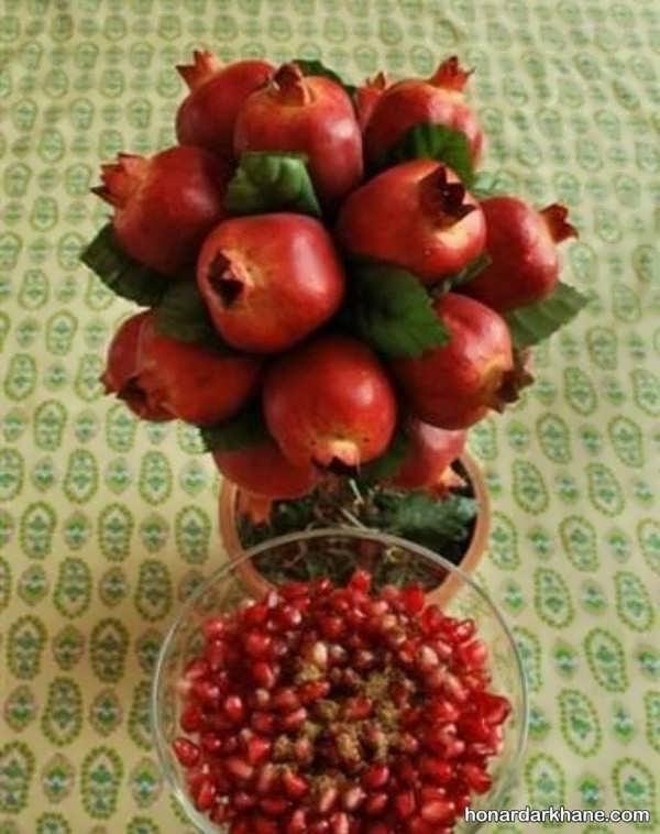 انواع مختلف میوه آرایی با انار