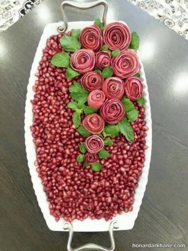 ایده های خاص و جذاب تزیین میوه انار