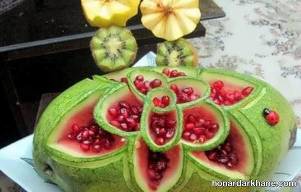 انواع مدل های شیک میوه آرایی با انار