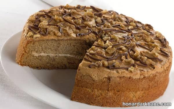 طریقه پخت کیک گردویی ساده و خوشمزه