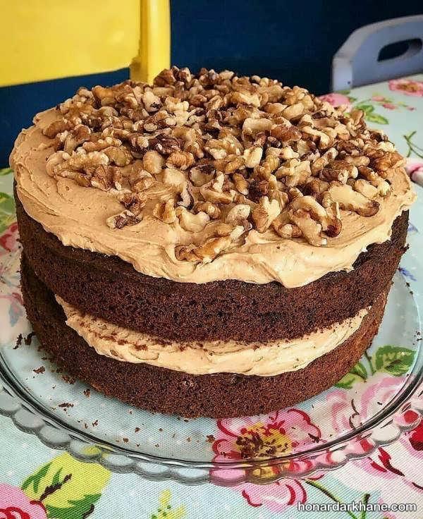 دستور پخت کیک گردویی با طعمی بی نظیر