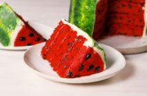طرز تهیه کیک هندوانه ای با طعمی خوشمزه