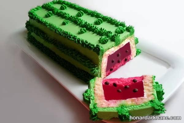 دستور تهیه کیک هندوانه ای با طعمی عالی