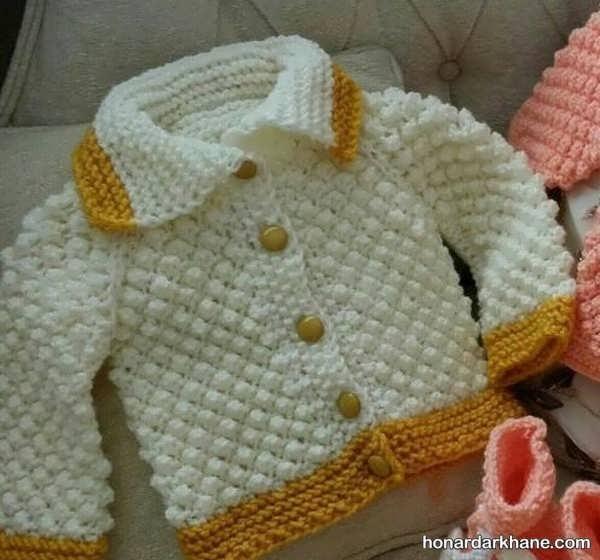 یادگیری بافت نخودی برای بافتن لباس نوزاد