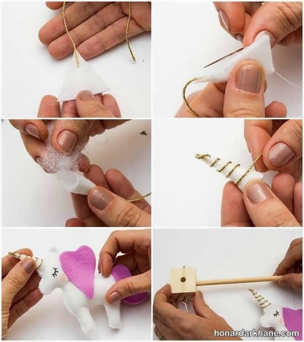 شیوه درست کردن عروسک یونیکورن