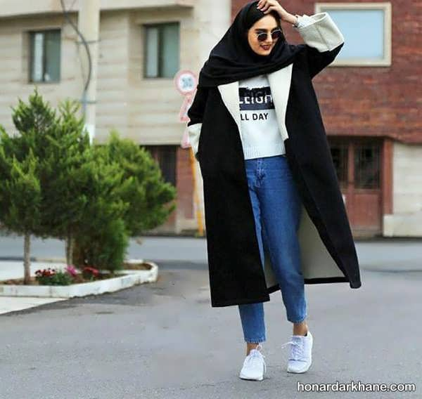 مدل های جدید هماهنگ کردن لباس با مانتو مشکی