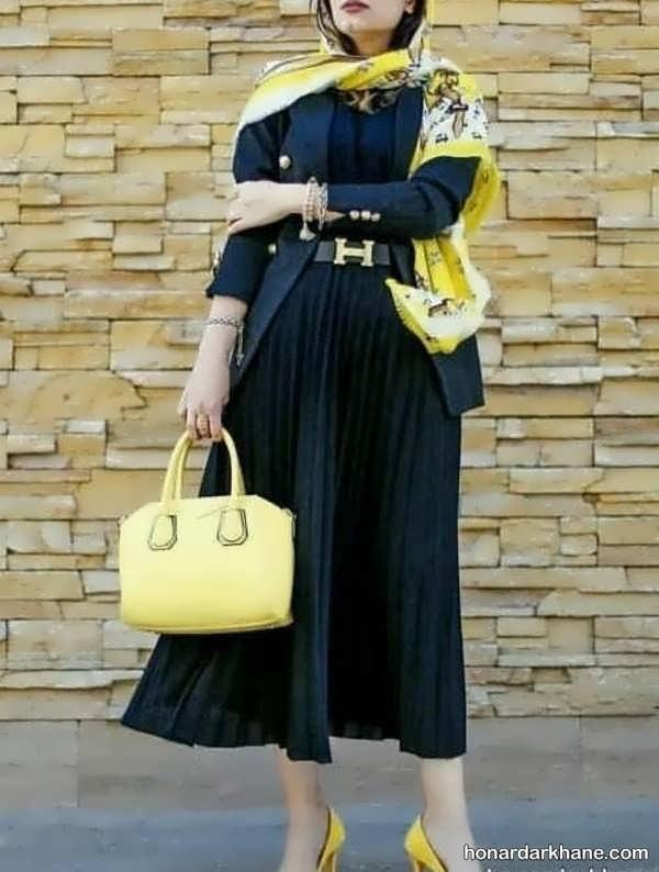 ایده های جالب هماهنگ کردن لباس با مانتو مشکی