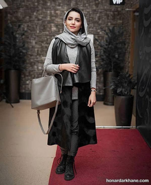 سبک های زیبا و جدید هماهنگ کردن لباس با مانتو مشکی