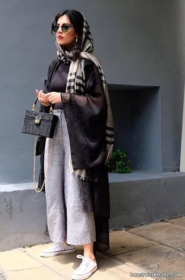 مدل های شیک یکدست کردن لباس با مانتو مشکی