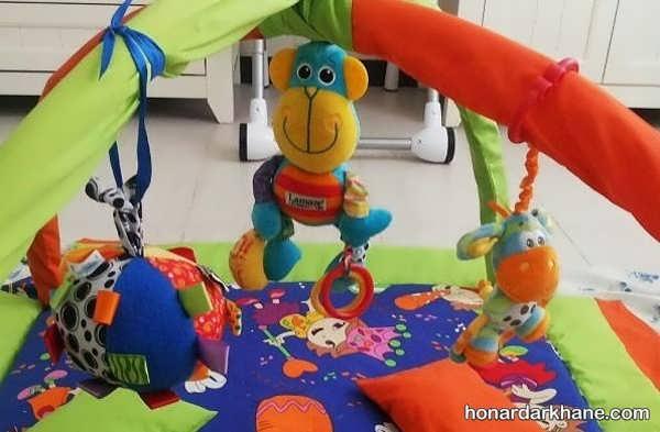 آموزش دوختن تشک بازی بچه