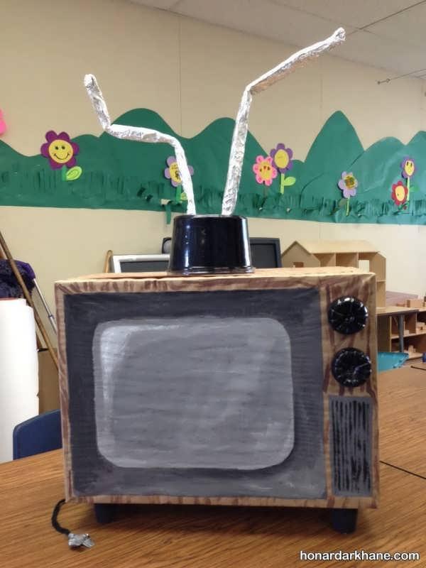 مدل های خلاقانه کارهنری به شکل تلویزیون