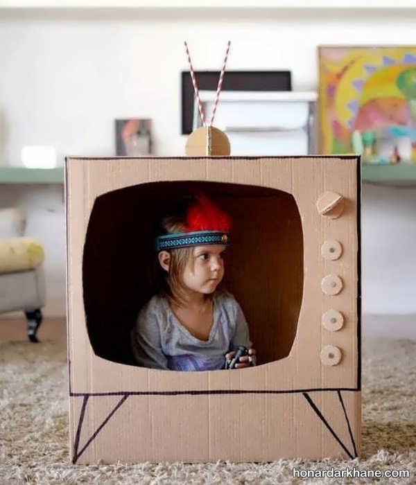 انواع هنردستی جذاب با طرح تلویزیون