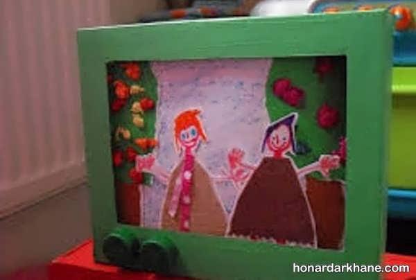 انواع کار دست ساز کودکانه به شکل تلویزیون