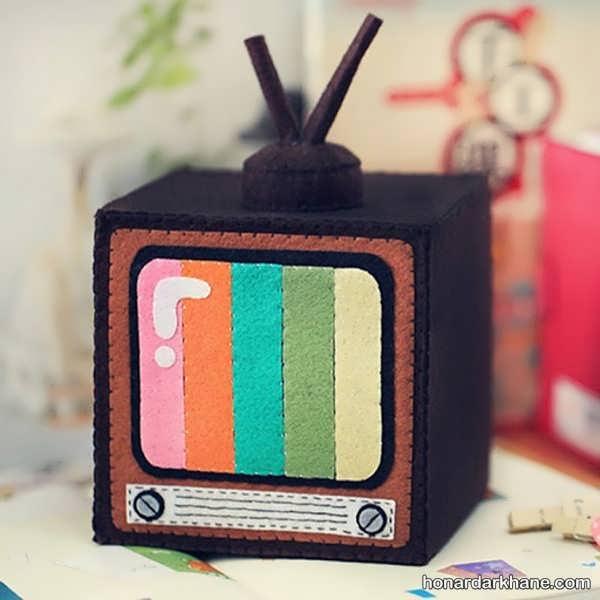 کارهنری جذاب با طرح تلویزیون