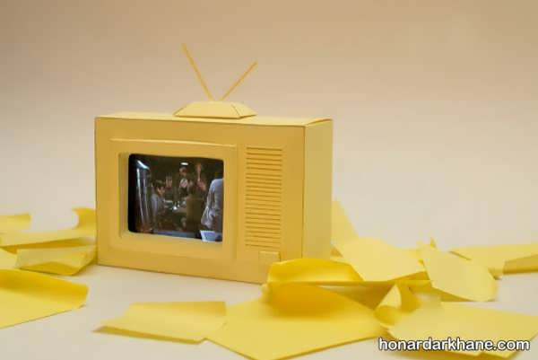 انواع هنردستی کودکانه به شکل تلویزیون