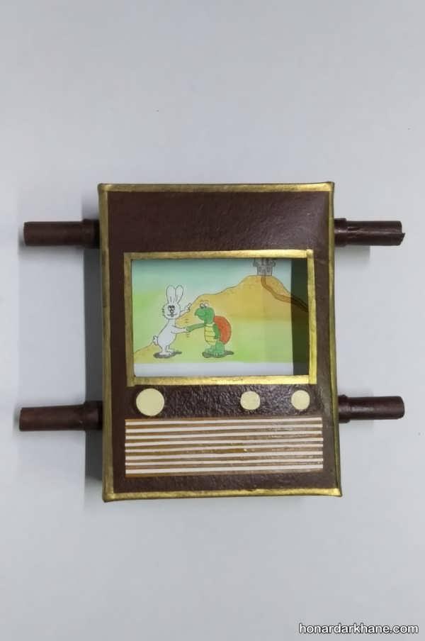 انواع کار دست ساز به شکل تلویزیون