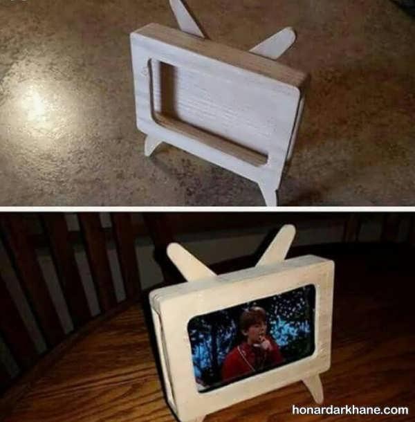 انواع هنردستی جذاب کودکانه با طرح تلویزیون