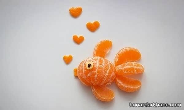 مدل های جالب میوه آرایی با نارنگی