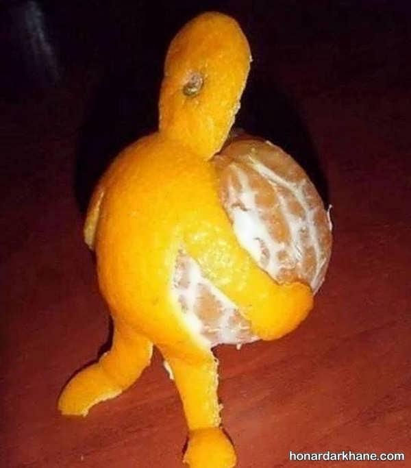 ایده های شیک و زیبا میوه آرایی با نارنگی