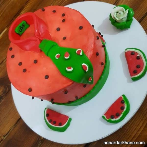 مدل های جذاب دیزاین کیک هندوانه ای