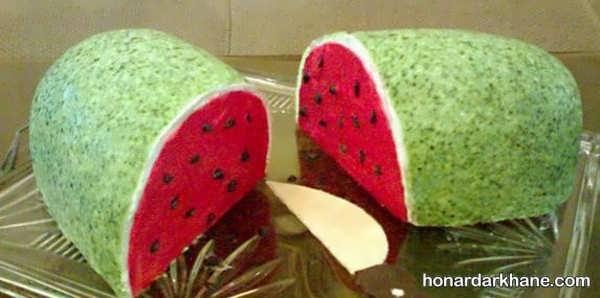 زیباترین انواع دیزاین کیک هندوانه ای