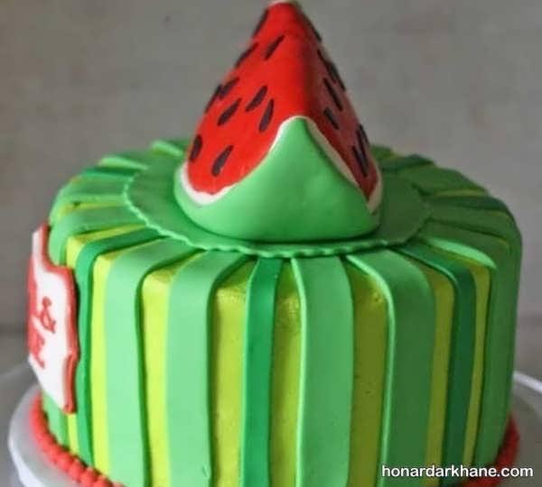 انواع سبک های جدید تزیین کیک هندوانه