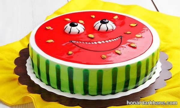 مدل های جدید و جذاب دیزاین کیک هندوانه ای