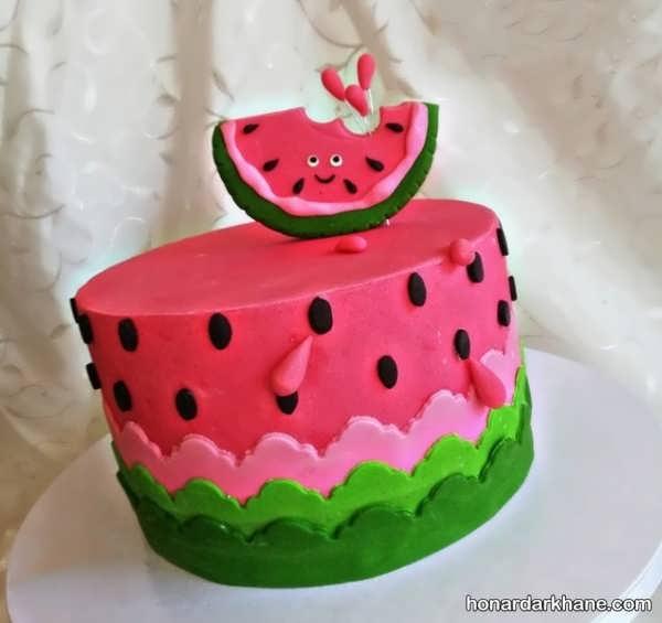 مدل های جذاب تزیینات کیک هندوانه ای