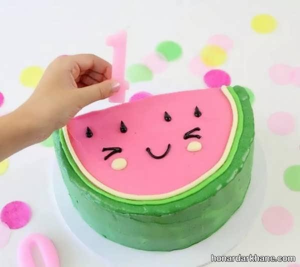 مدل های متنوع تزیینات کیک هندوانه ای