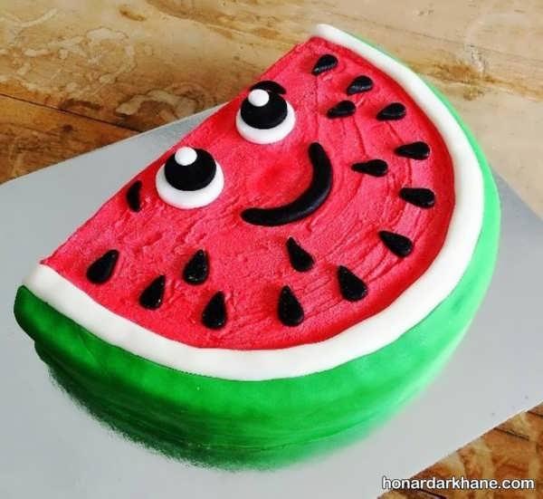 مدل های شیک تزیین کیک هندوانه