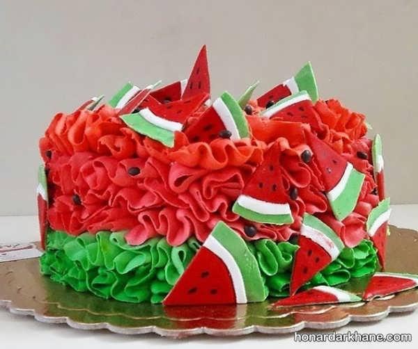 مدل های جذاب تزیین کیک هندوانه