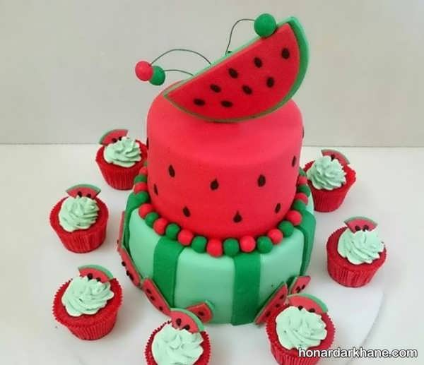 انواع دیزاین زیبا کیک هندوانه ای