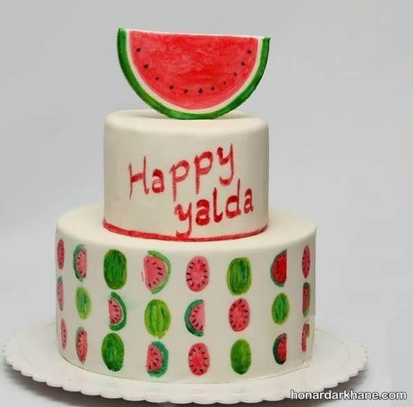 انواع ایده های جالب تزیینات کیک هندوانه ای
