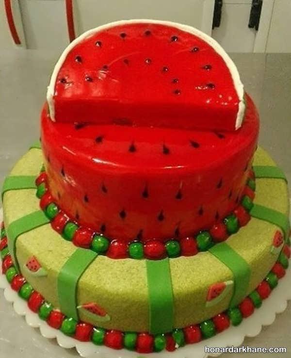 مدل های زیبا و جذاب دیزاین کیک هندوانه