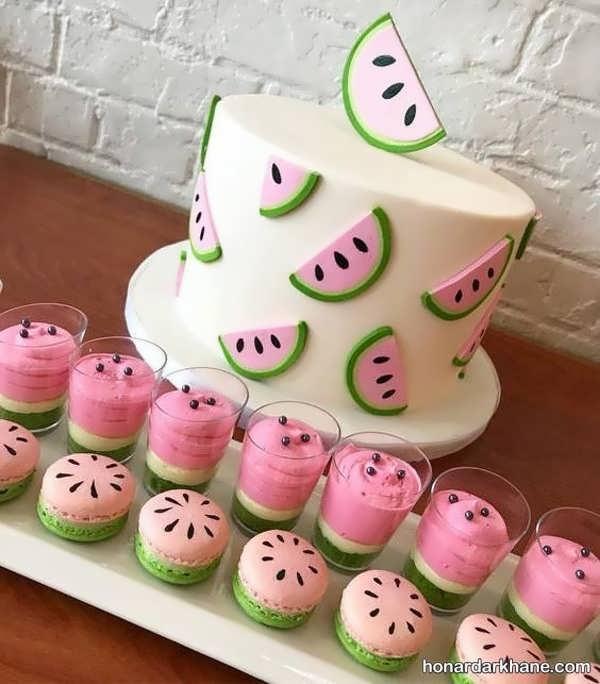 مدل های جالب تزیین کیک هندوانه