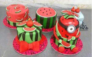 مدل های متنوع و شیک تزیین کیک هندوانه ای